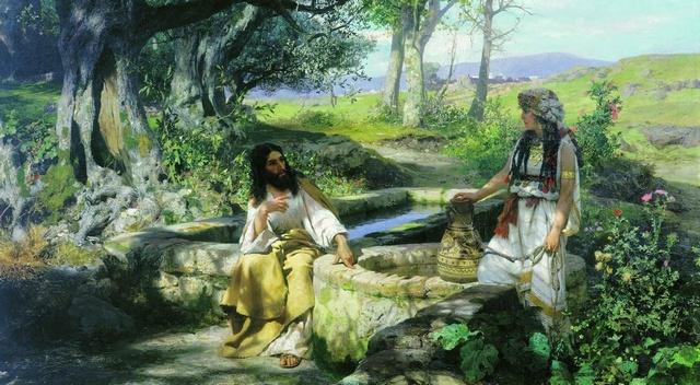 Иисус и самарянка у колодца Иакова